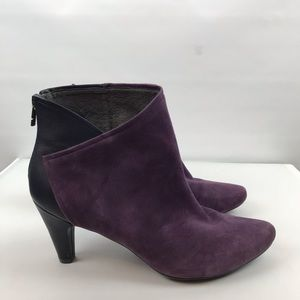 Tsubo Shoes - TSUBO Felecia Purple Leather Suede Bootie Sz 11